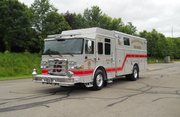 driver front view 2017 Pierce Enforcer walk-in rescue refurbishment