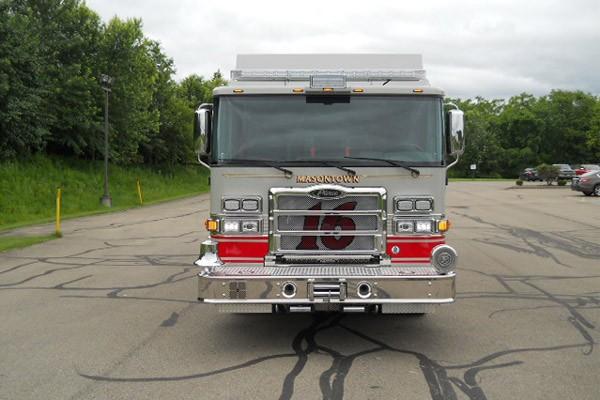 front view 2017 Pierce Enforcer walk-in rescue refurbishment