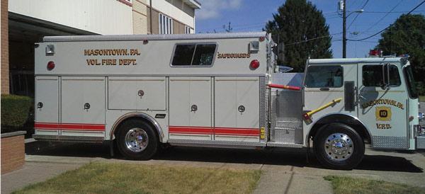 Masontown FD before refurbish fire apparatus