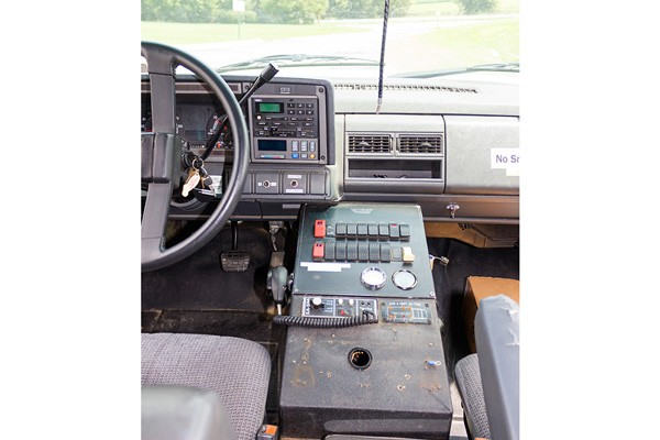 used 2001 type 1 ambulance sales - cab interior