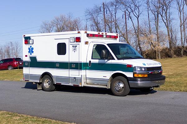 2008 used type 3 ambulance sales - passenger front