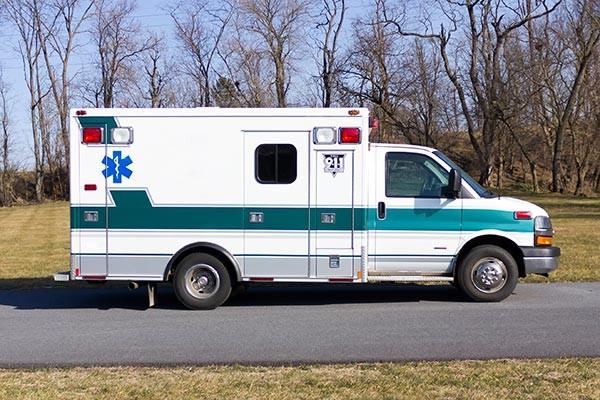 2008 used type 3 ambulance sales - passenger side