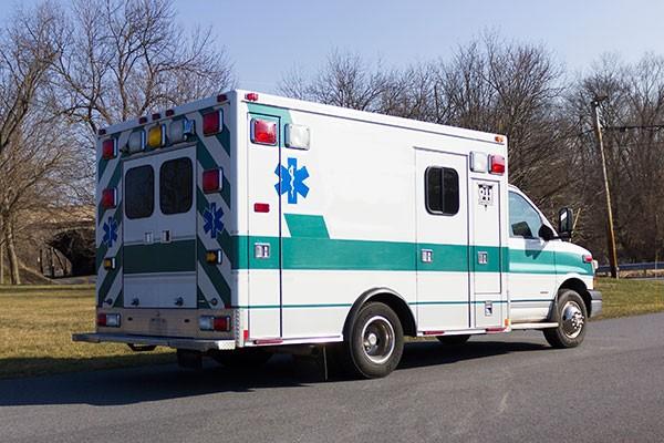 2008 used type 3 ambulance sales - passenger rear