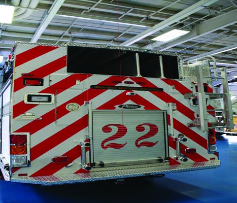 Pierce® Enforcer­™ PUC Rescue Pumper rear view