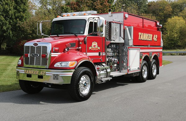 GLENN LEBANON VOL FIRE CO. 2018 Pierce® Peterbilt Dry-Side Tanker