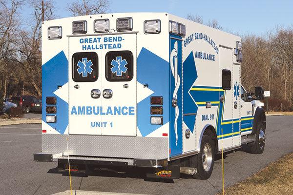 GREAT BEND HALLSTEAD AMBULANCE - Braun Express Type I Ambulance