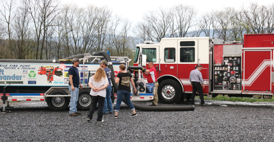 Glick Fire Equipment Mill Hall PA Open house demo