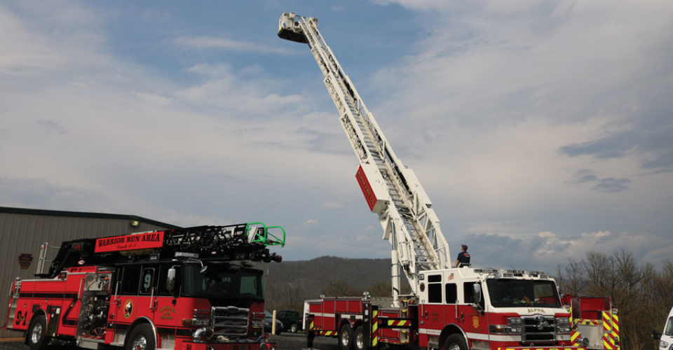 Glick Fire Equipment Mill Hall PA Open house ladder trucks