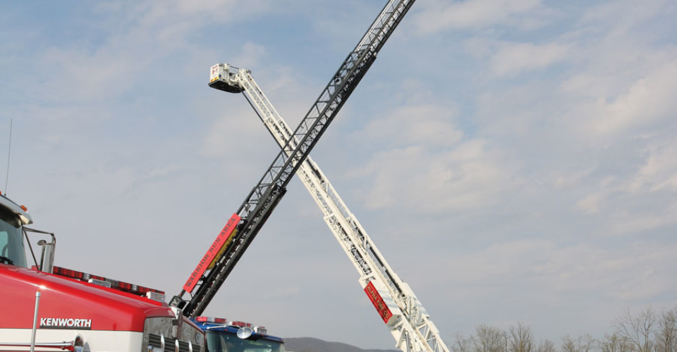 Glick Fire Equipment Mill Hall PA Open house ladder trucks3