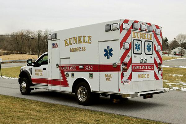 KUNKLE FIRE COMPANY – Type I ambulance