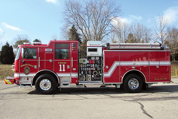 BEAVER FALLS FIRE COMPANY Pierce Arrow XT Pumper