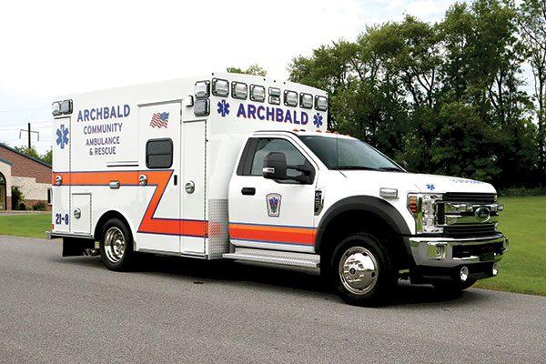 ARCHBALD COMMUNITY AMBULANCE Braun Express Plus Ambulance