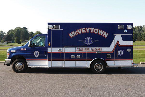 McVEYTOWN AMBULANCE ASSOC. - Braun Chief XL Type II Ambulance