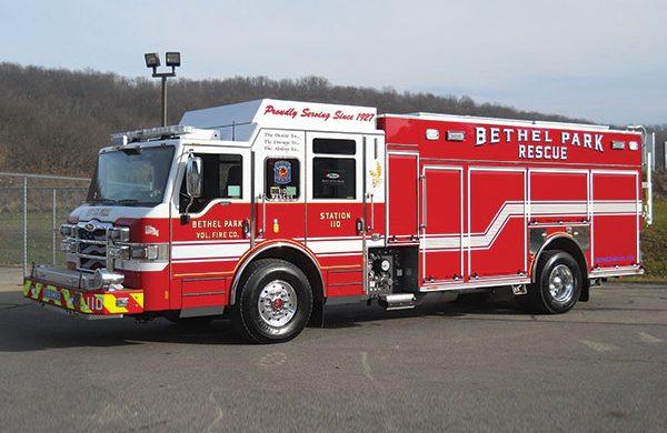 BETHEL PARK VOLUNTEER FIRE COMPANY Pierce Velocity PUC Rescue Pumper