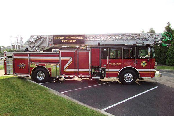 UPPER MORELAND FIRE DEPT Pierce® Enforcer™ PUC 107' Ascendant Quint Ladder