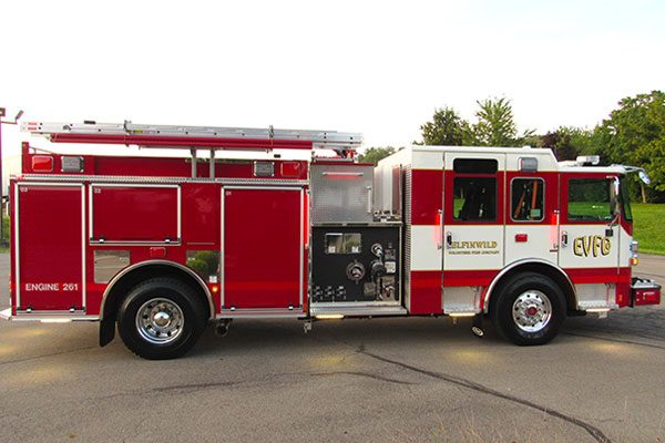 ELFINWILD VOLUNTEER FIRE CO Pierce Enforcer Pumper
