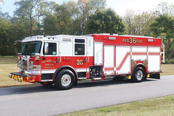 PO-MAR-LIN FIRE COMPANY Pierce Enforcer PUC Pumper