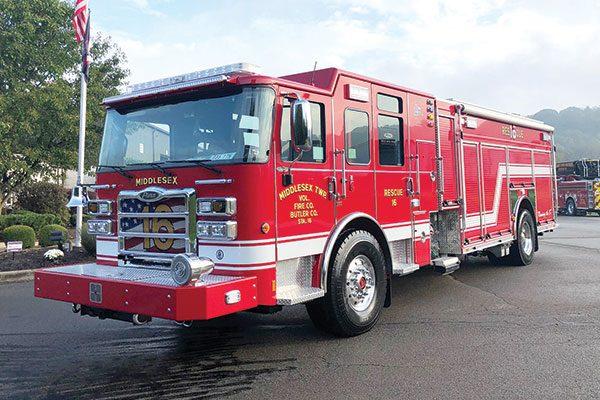 MIDDLESEX TWP VOL FIRE CO. - Pierce Enforcer PUC Rescue Pumper