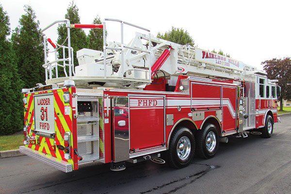 Fairless Hills Fire Dept. Pierce Arrow XT 107' Ascendant Ladder Aerial