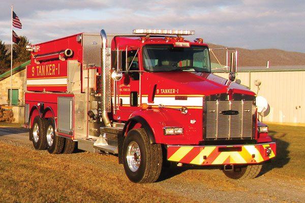 RIDGEBURY VOL FIRE CO- Pierce Kenworth Dry-side tanker