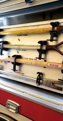 RIDGE FIRE CO Pierce Freightliner Pumper GLICK CUSTOM TOOL MOUNTING