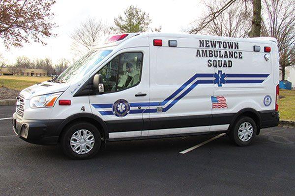 NEWTOWN AMBULANCE SQUAD Demers Transit EXE Type II Ambulance