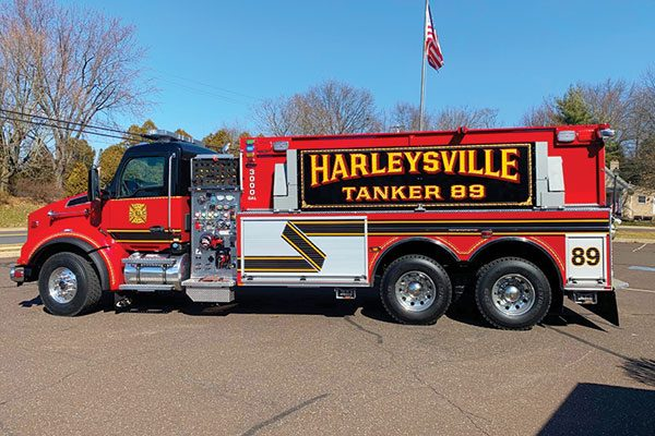 HARLEYSVILLE COMMUNITY FIRE CO Pierce Kenworth Dry-Side Tanker