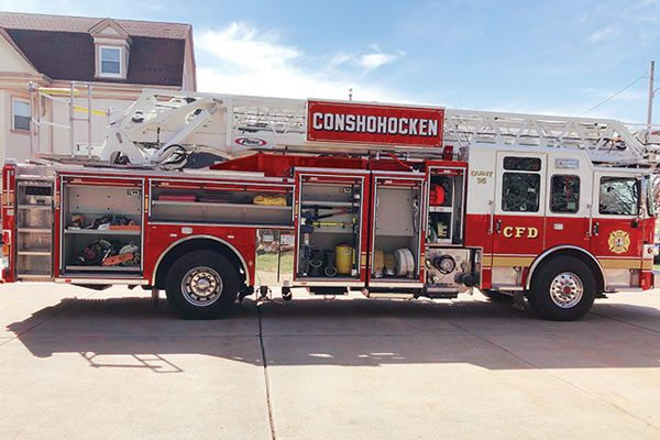 CONSHOHOCKEN FIRE CO. No 2 Pierce Enforcer PUC 107' Ascendant Heavy-duty ladder