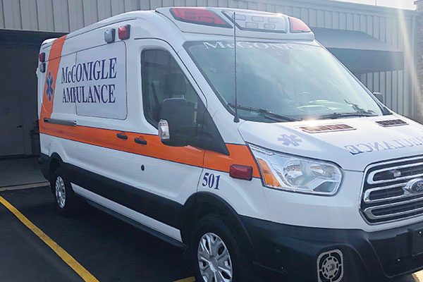 MCGONIGLE AMBULANCE SERVICE Demers Transit Type II Ambulance
