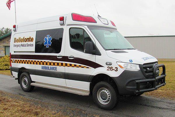 BELLEFONTE EMERGENCY MEDICAL SERVICE Demers EXE Type II ambulance