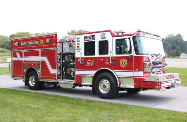 BART TWP FIRE COMPANY Pierce Rescue Pumper