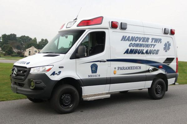 HANOVER TWP COMMUNITY AMBULANCE Demers Mirage LT2E AWD Sprinter Type II Ambulance