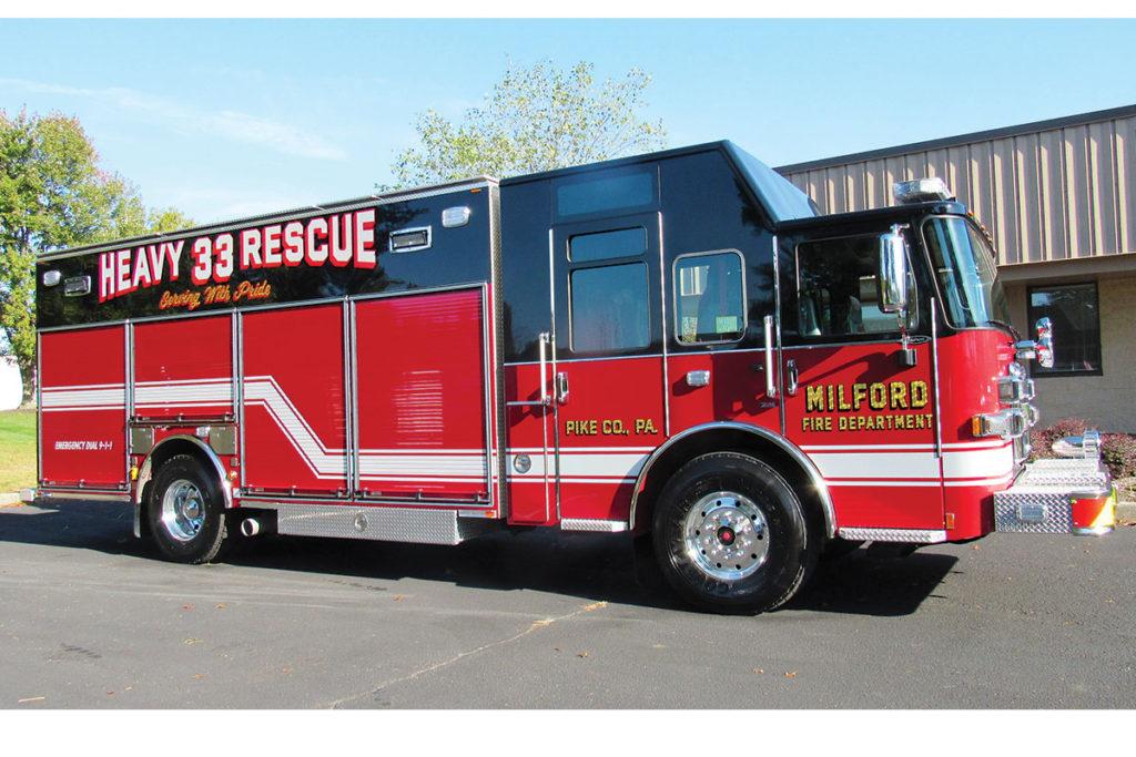 MILFORD FIRE DEPARTMENT Pierce Enforcer Heave-Duty Rescue Refurb