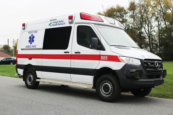 WEST END COMMUNITY AMBULANCE Demers Mirage LT2E Type II ambulance