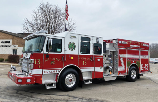 ERIE FIRE DEPT Pierce Enforcer Pumper 34984