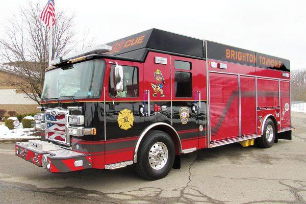 BRIGHTON TWP VOL FIRE DEPT Pierce Saber Encore Rescue