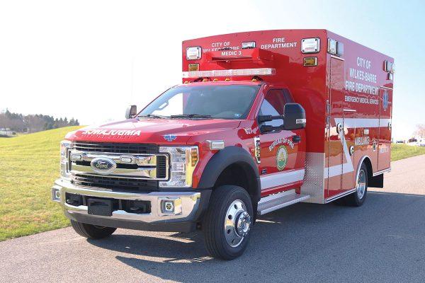 CITY OF WILKES BARRE Braun Liberty Type I Ambulance