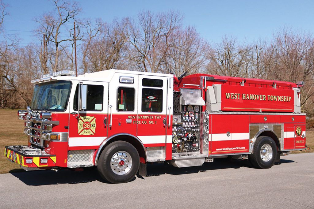 WEST HANOVER FIRE CO Pierce Enforcer Pumper Tanker