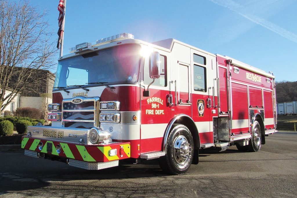 FARRELL FIRE DEPT Pierce Enforcer PUC Rescue Pumper