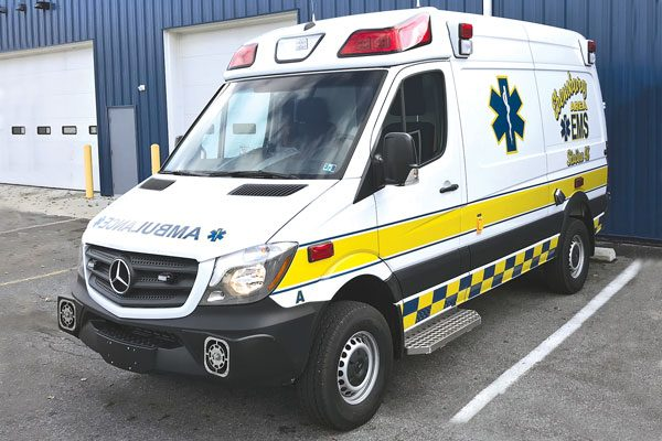 EBENSBURG AREA AMBULANCE 2017 Demers Mirage EXE Type II ambulance