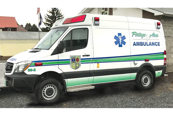 PORTAGE AREA AMBULANCE Type II Demers Ambulance - M17-625